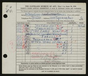 Entry card for Cooper, Dr. Bernard Henry, and Jenso, Steve; Eastman, Sidney; Graves, Ted for the 1951 May Show.