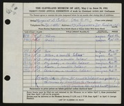 Entry card for Cutler, Margaret Scovel for the 1951 May Show.