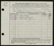 Entry card for Gerard, Nancy Geggus for the 1951 May Show.