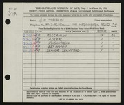 Entry card for Herron, Jim for the 1951 May Show.