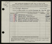Entry card for Horton, Clyde E. for the 1951 May Show.