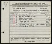 Entry card for Hugh, Kenneth Marcus for the 1951 May Show.