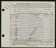 Entry card for Jeffery, Charles Bartley, and Wooddell, Joseph M. for the 1951 May Show.