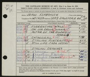 Entry card for Kempsmith, Joan for the 1951 May Show.