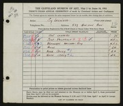 Entry card for Lachiusa, Salvatore A. for the 1951 May Show.