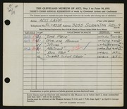 Entry card for Malone, Alys Lapp for the 1951 May Show.