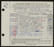 Entry card for Mellen, Margaret Riggs for the 1951 May Show.