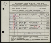 Entry card for Miller, Richard McDermott for the 1951 May Show.