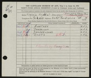 Entry card for Nepodal, Virginia, and Cheney Brothers for the 1951 May Show.
