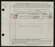 Entry card for Payer, Ernst, and Harvey G. Stief, Inc. for the 1951 May Show.