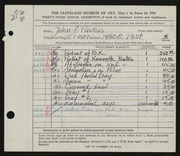 Entry card for Puskas, John F. for the 1951 May Show.