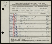 Entry card for Sloane, Phyllis for the 1951 May Show.