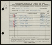 Entry card for Stumpf, Marie E. for the 1951 May Show.