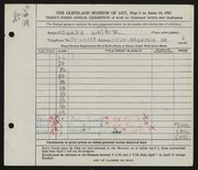 Entry card for Winter, H. Edward for the 1951 May Show.