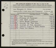 Entry card for Wood, Kenneth A. for the 1951 May Show.