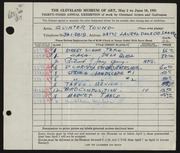 Entry card for Young, Jay Quinter for the 1951 May Show.