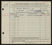 Entry card for Beattie, George for the 1952 May Show.