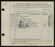 Entry card for Brown, James T. for the 1952 May Show.