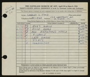 Entry card for Ford, Charles S. for the 1952 May Show.