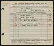 Entry card for Lachiusa, Salvatore A. for the 1952 May Show.