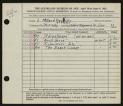 Entry card for Owensby, L. Millard for the 1952 May Show.