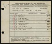 Entry card for Scheele, Carl H. for the 1952 May Show.