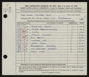 Entry card for Cole, Helen Champney for the 1953 May Show.