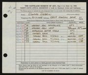 Entry card for Dobrin, Richard for the 1953 May Show.