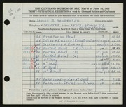 Entry card for Henderson, James B. for the 1953 May Show.