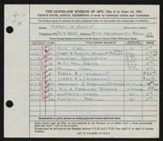 Entry card for Hewit, Mabel A. for the 1953 May Show.