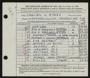Entry card for Hykes, Sterling V. for the 1953 May Show.