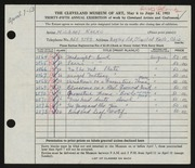 Entry card for Natko, Michael for the 1953 May Show.