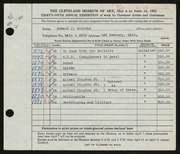 Entry card for Solotko, Edward J. for the 1953 May Show.