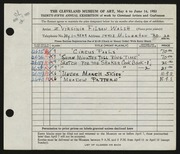 Entry card for Filson, Virginia for the 1953 May Show.