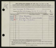 Entry card for Adomeit, George G. for the 1954 May Show.
