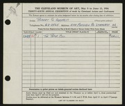 Entry card for Adomeit, Robert George for the 1954 May Show.