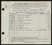 Entry card for Brucker, Edmund for the 1954 May Show.