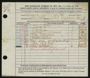 Entry card for Disch, Robert W. for the 1954 May Show.