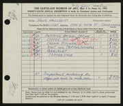 Entry card for Hallqvist, Solve Carl for the 1954 May Show.