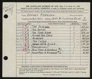 Entry card for Henning, Edward B. for the 1954 May Show.