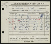 Entry card for Hykes, Sterling V. for the 1954 May Show.