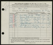 Entry card for John, Betty for the 1954 May Show.