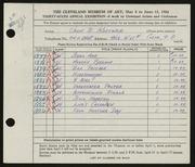 Entry card for Kastner, John B. for the 1954 May Show.