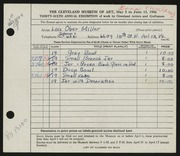 Entry card for Miller, Lois Ober for the 1954 May Show.
