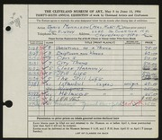Entry card for Morrison, Doris C. for the 1954 May Show.