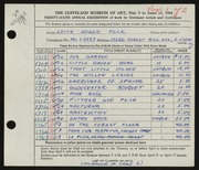 Entry card for Peck, Edith Hogen for the 1954 May Show.