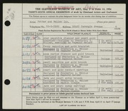 Entry card for Potter and Mellen , and Miller, Frederick Anson; Weiser, Raymond T.; Olsson, Martin for the 1954 May Show.