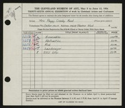 Entry card for Rood, Peggy Crosby for the 1954 May Show.