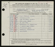 Entry card for Shawkey, Sigmund for the 1954 May Show.