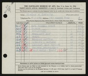 Entry card for Shewitz, Newson H. for the 1954 May Show.